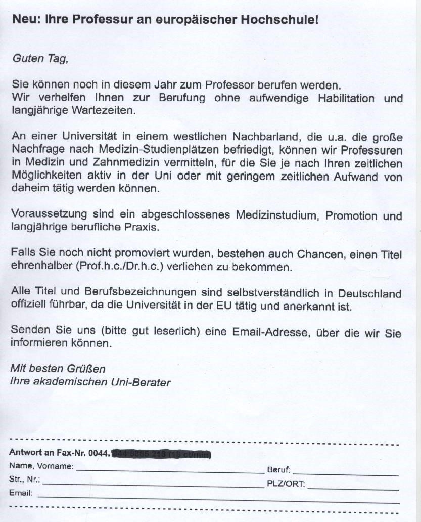Professor titel bekommen